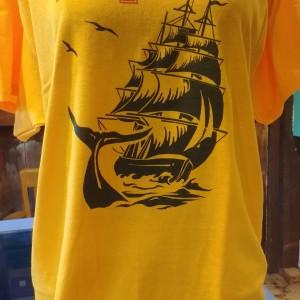 Pequod t-shirt gold front a