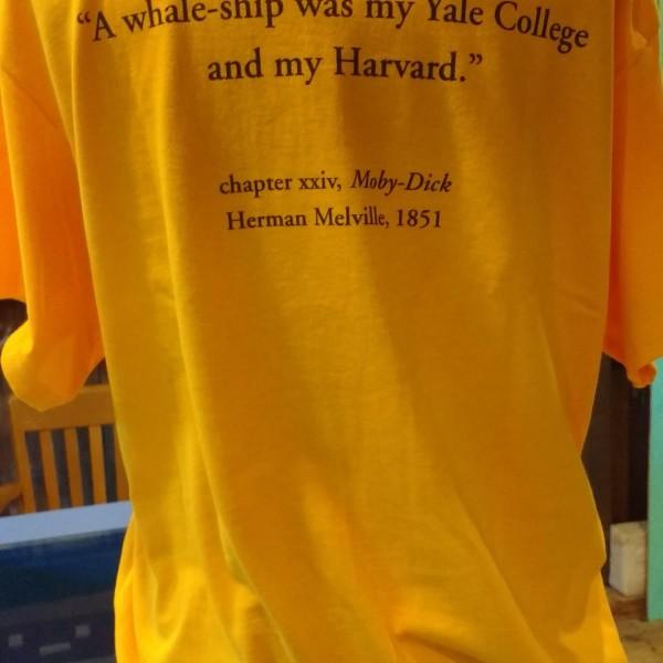 Pequod t-shirt gold reverse a