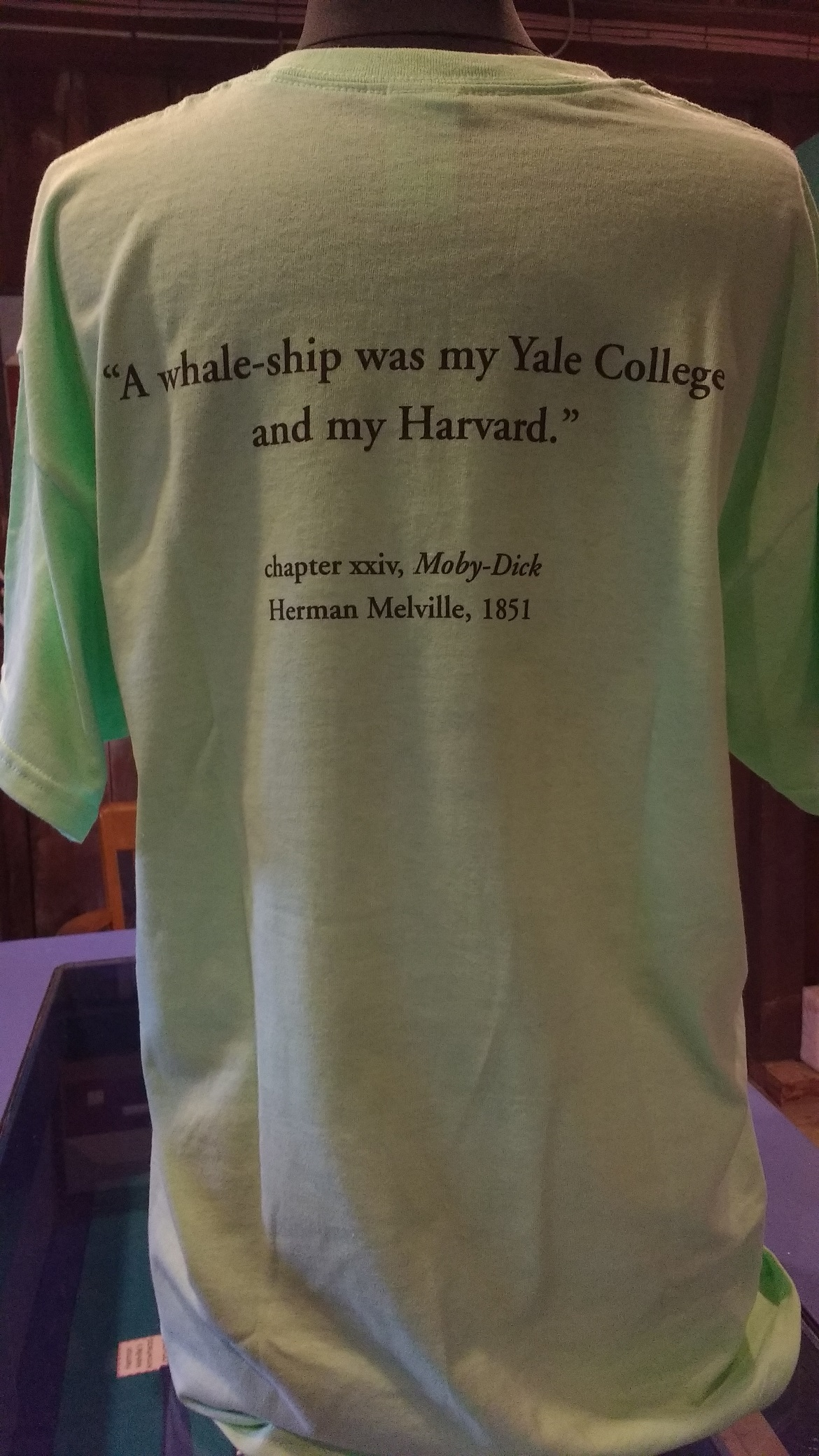 Pequod - A Whale-ship was my Yale College and my Harvard (light blue)